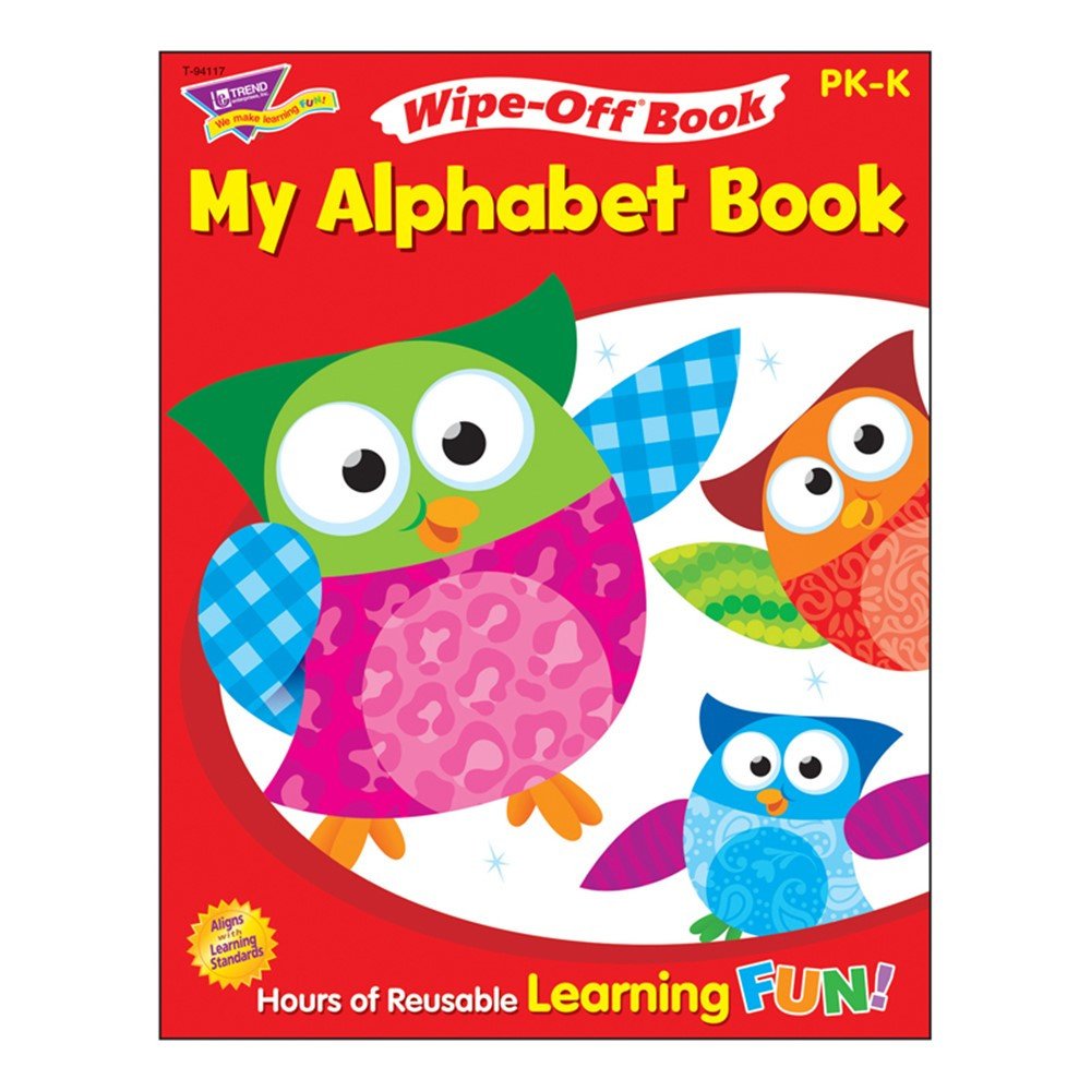 T-94117 - My Alphabet Book 28Pg Wipe-Off Books in Language Arts