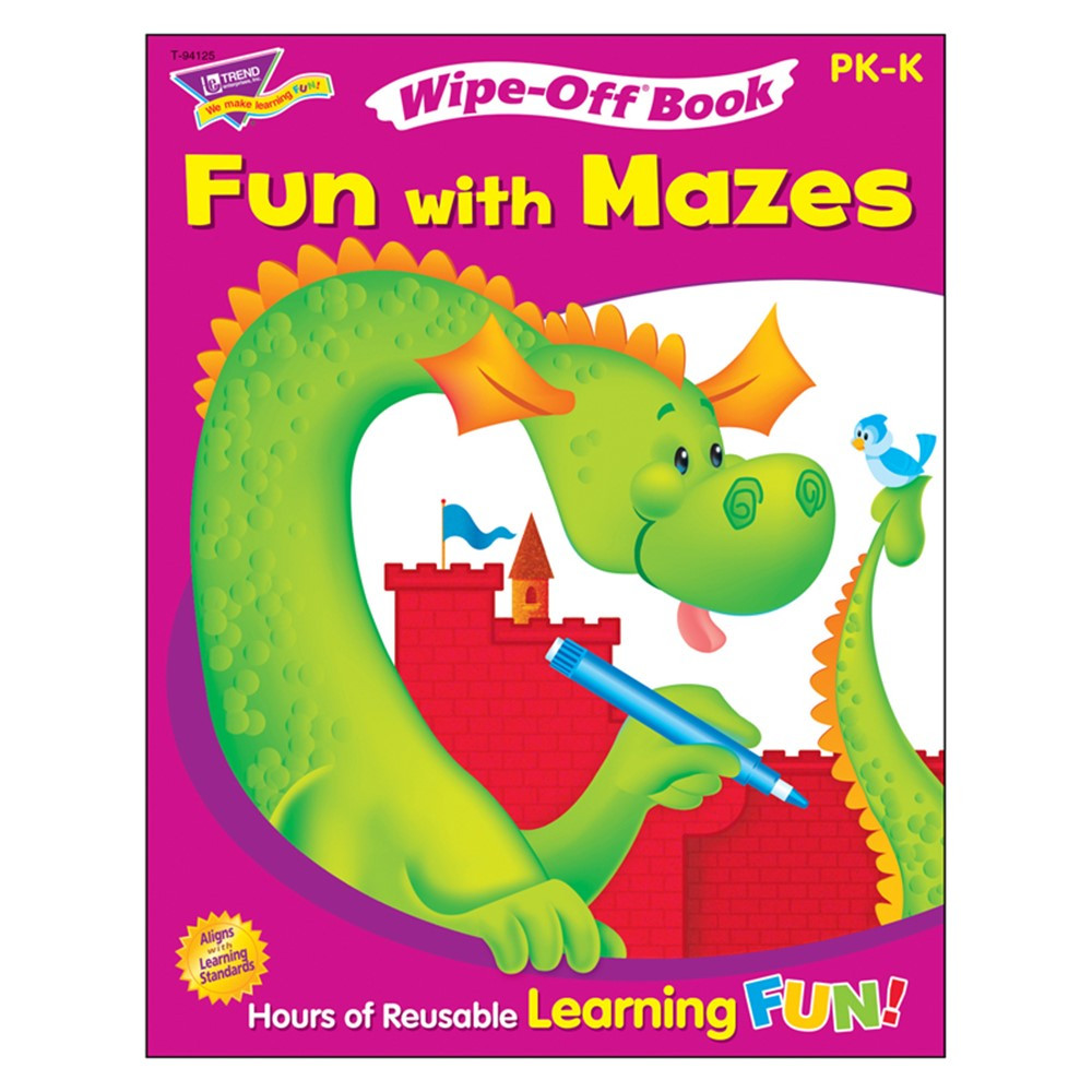 T-94125 - Fun With Mazes Wipe Off Book in Activities
