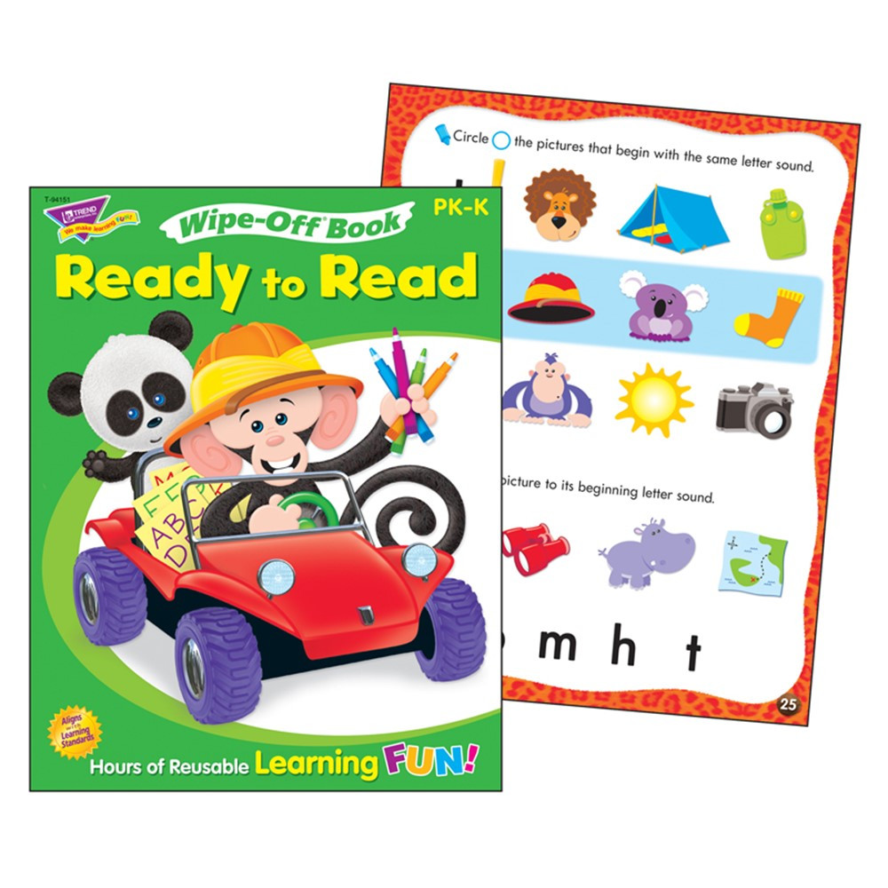 T-94151 - Ready To Read Level 1 Monkey Mischief Wipe Off Book Gr Pk-K in Language Arts