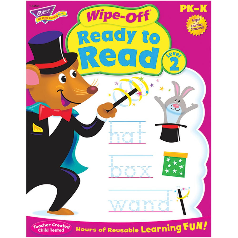 T-94160 - Ready To Read Level 2 Wipe Off Book Gr Pk-K in Language Arts
