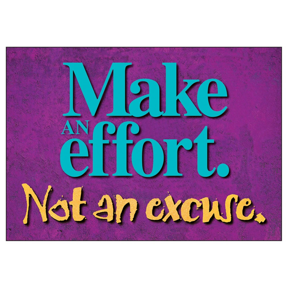 T-A62855 - Poster Make An Effort 13 X 19 Large in Motivational