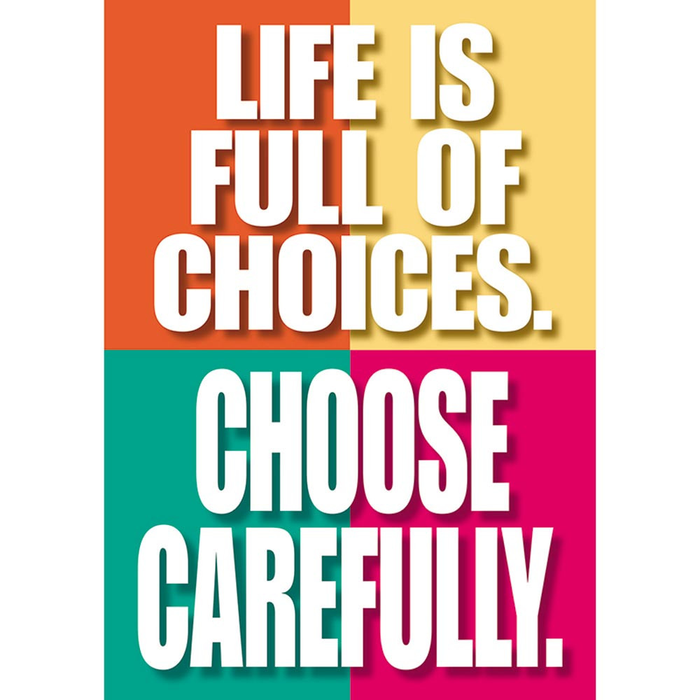 T-A63042 - Poster Life Is Full Of Choices in Motivational