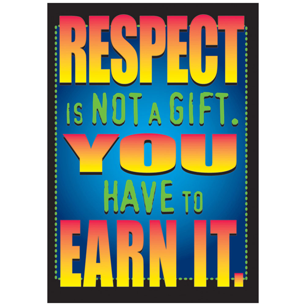 T-A63108 - Poster Respect Is Not A Gift in Motivational
