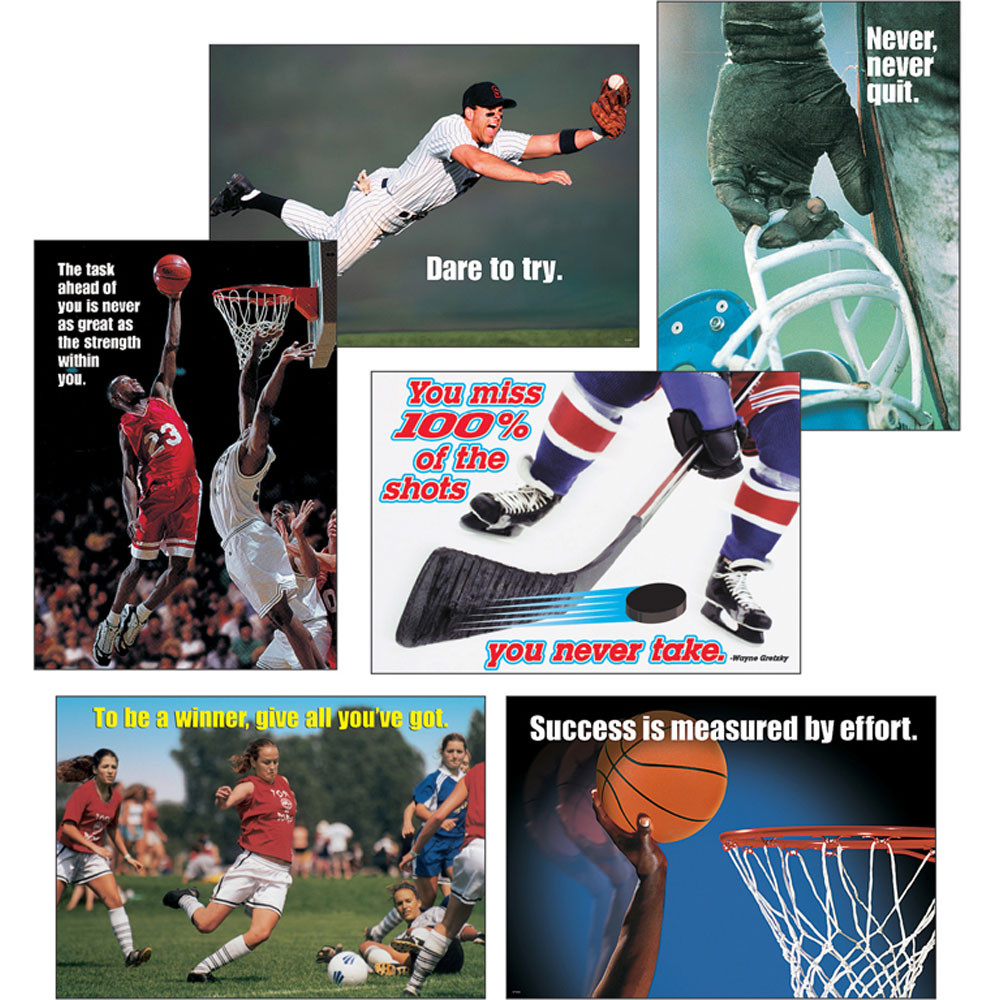 T-A6685 - Sports Motivating Poster Pack in Motivational