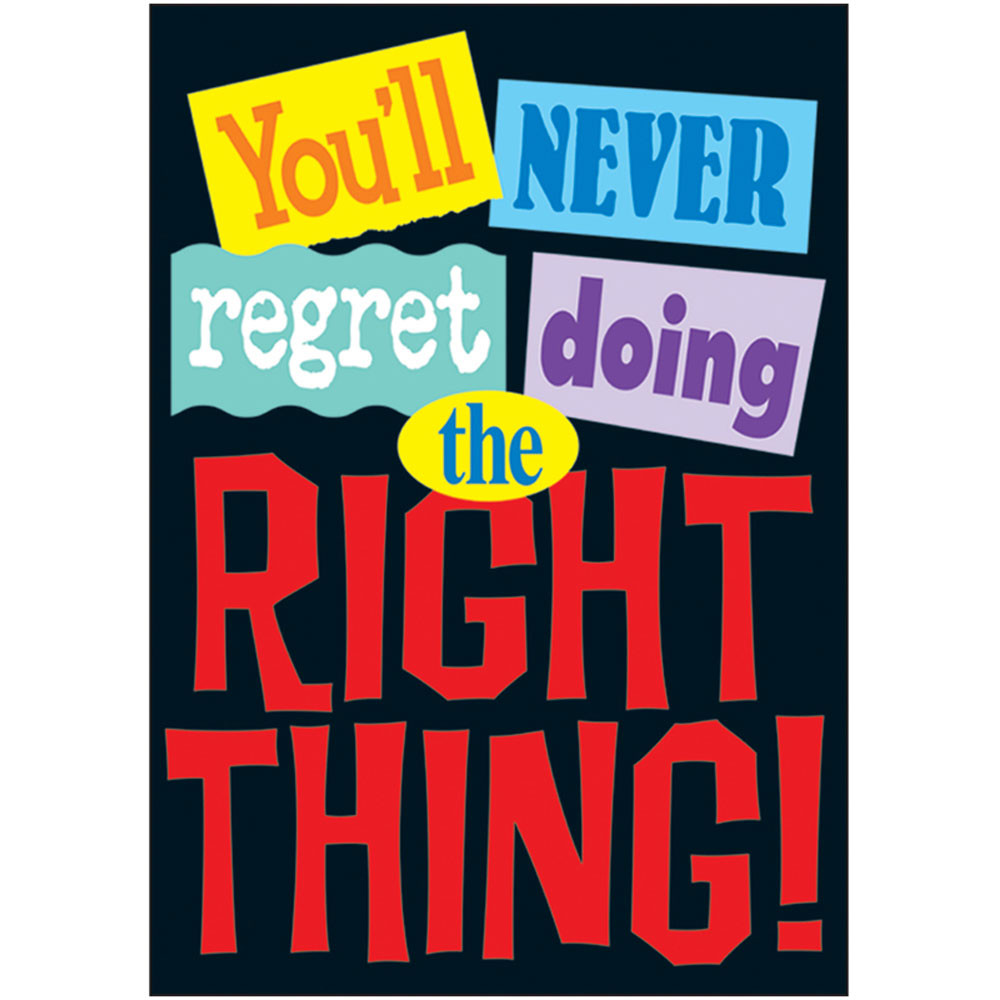 T-A67123 - Poster Youll Never Regret Doing in Motivational