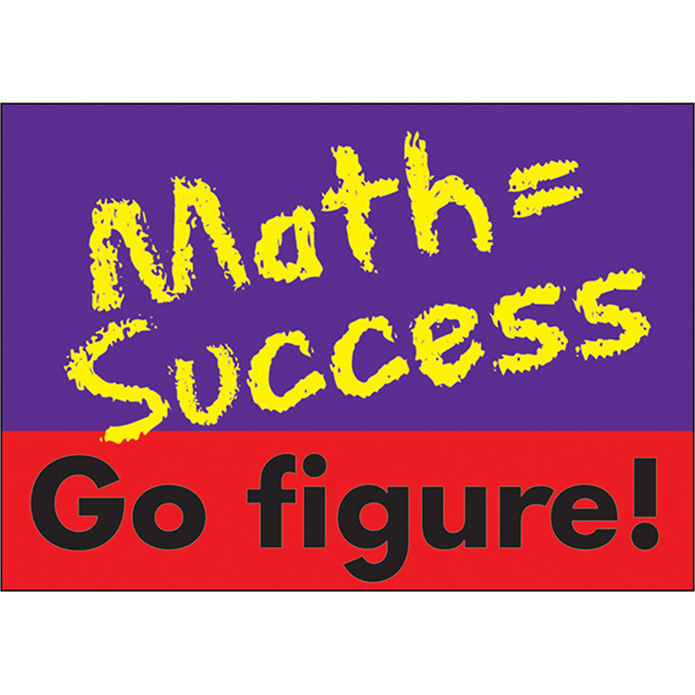 T-A67124 - Poster Math Success Go Figure in Math