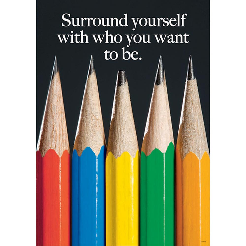 T-A67241 - Surround Yourself W/ Who Large Posters in Motivational