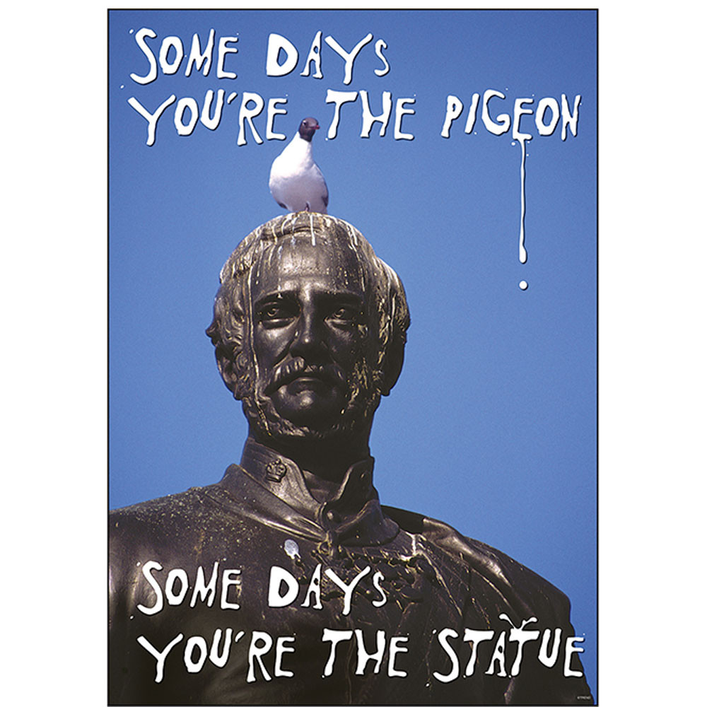 T-A67278 - Poster Some Days Youre The Pigeon Some Days Youre The Statue Argus in Motivational