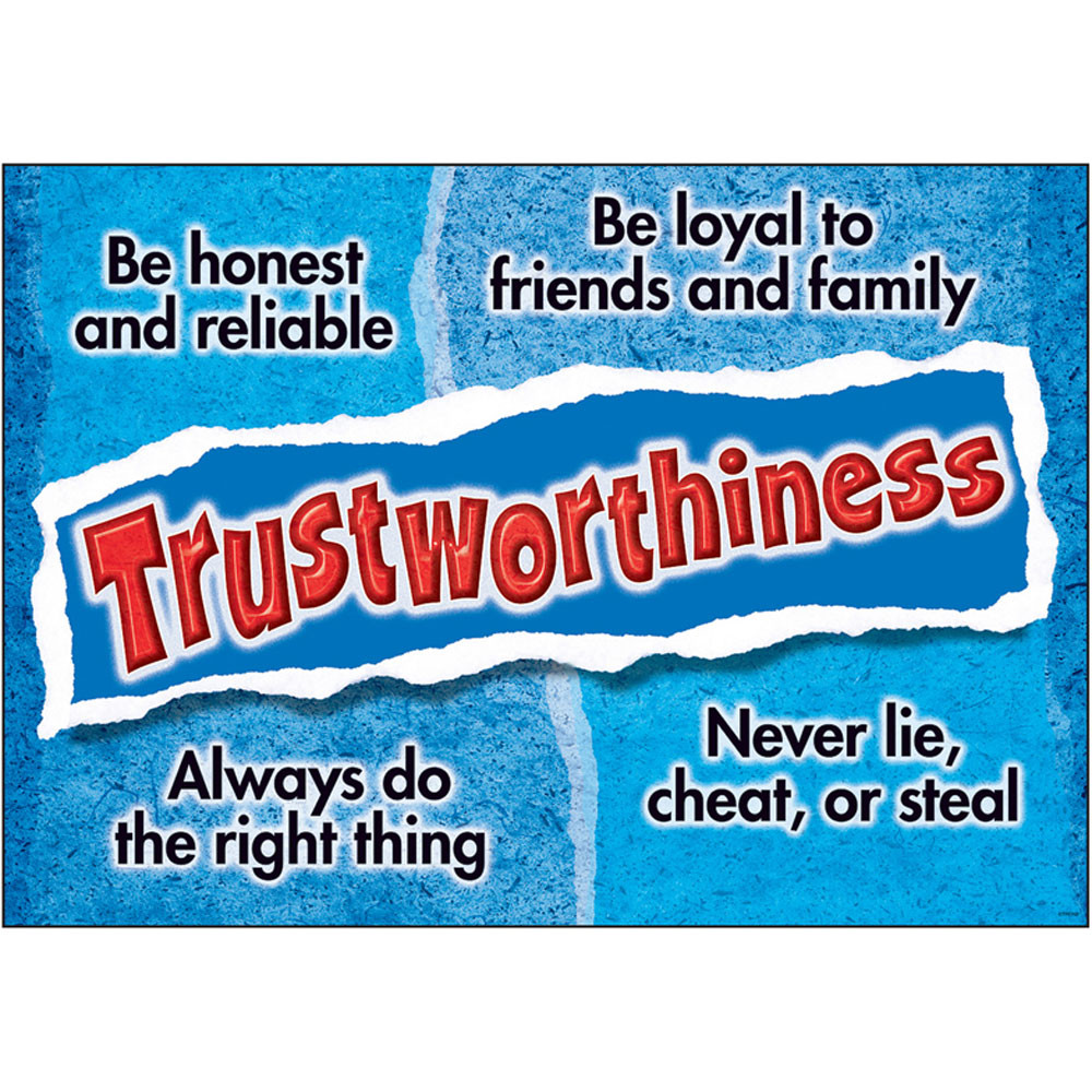 T-A67304 - Trustworthiness Poster in Motivational