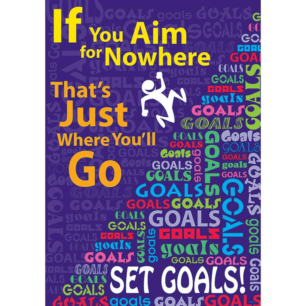 T-A67319 - If You Aim For Nowhere Poster in Motivational