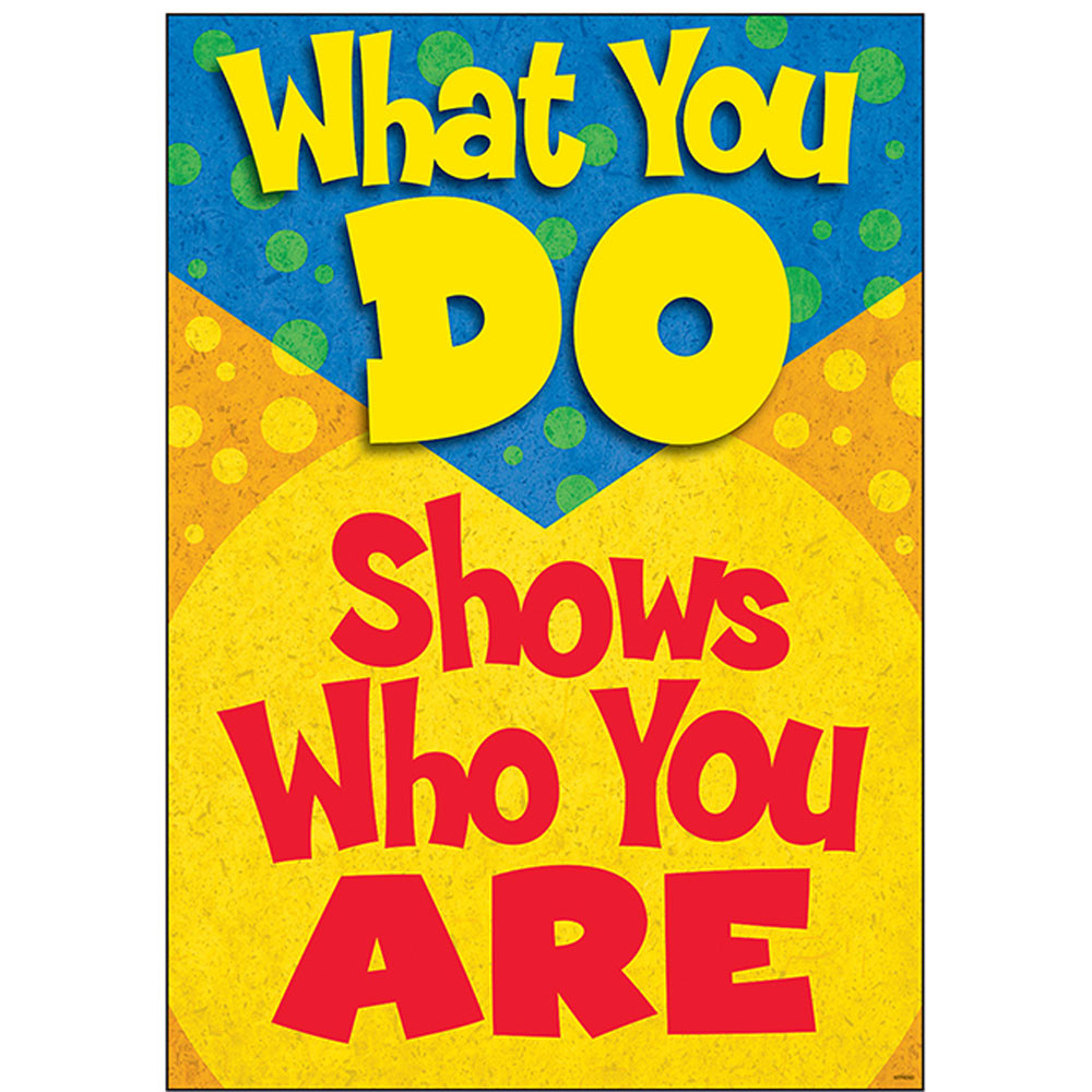 T-A67325 - What You Do Shows Who You Are Poster in Motivational
