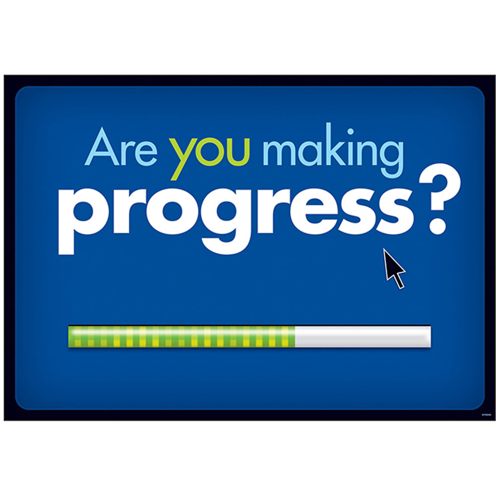 T-A67338 - Are You Making Progress Argus Large Poster in Motivational