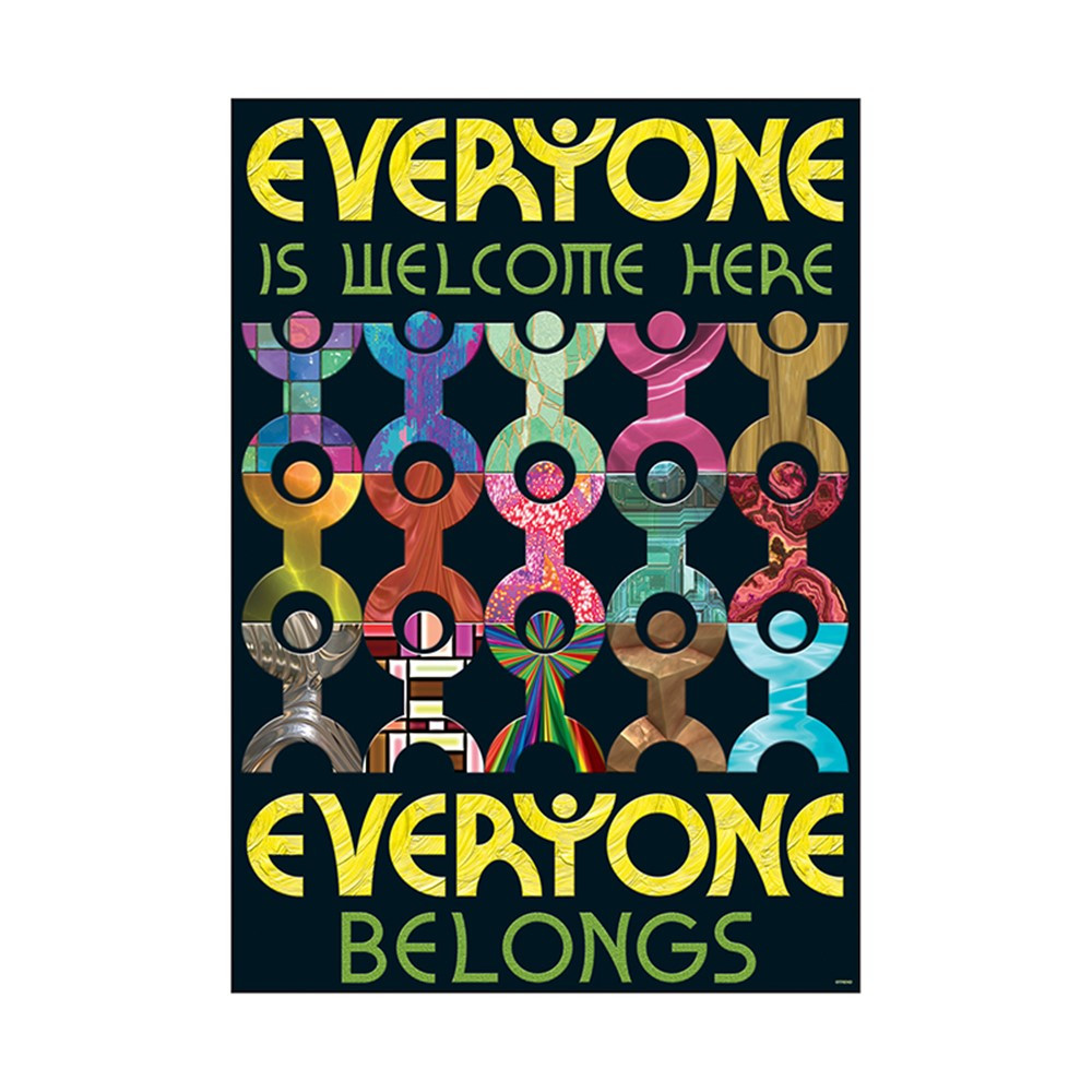 T-A67341 - Everyone Is Welcome Here Everyone Belongs Argus Large Poster in Motivational