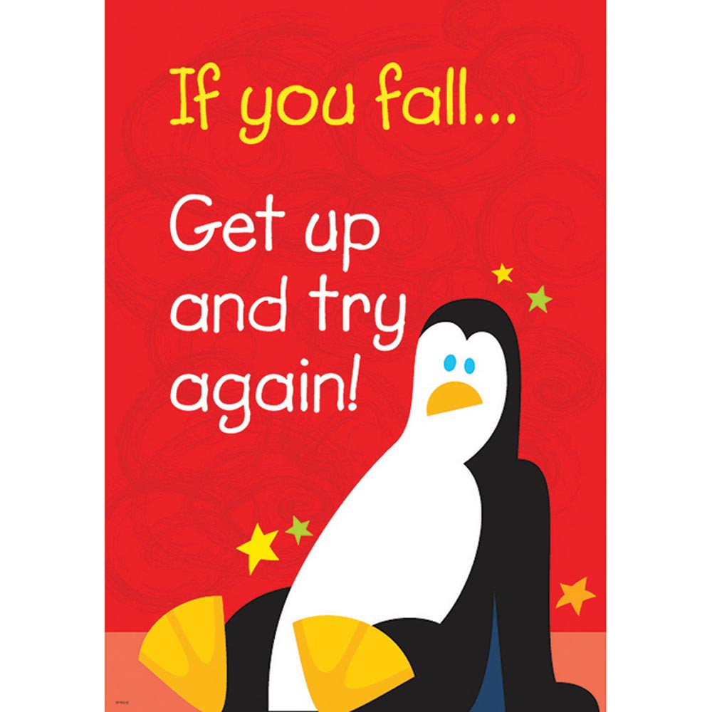 T-A67386 - If You Fall Get Up And Try Again Poster in Motivational