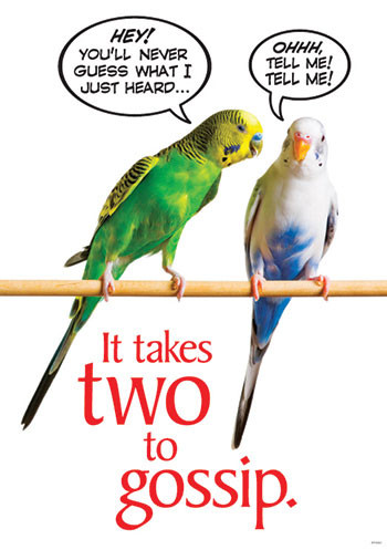 T-A67393 - It Takes Two To Gossip Poster in Motivational