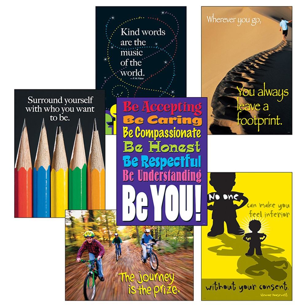 T-A67909 - Think Positively Set Lps Large Poster Sets in Motivational