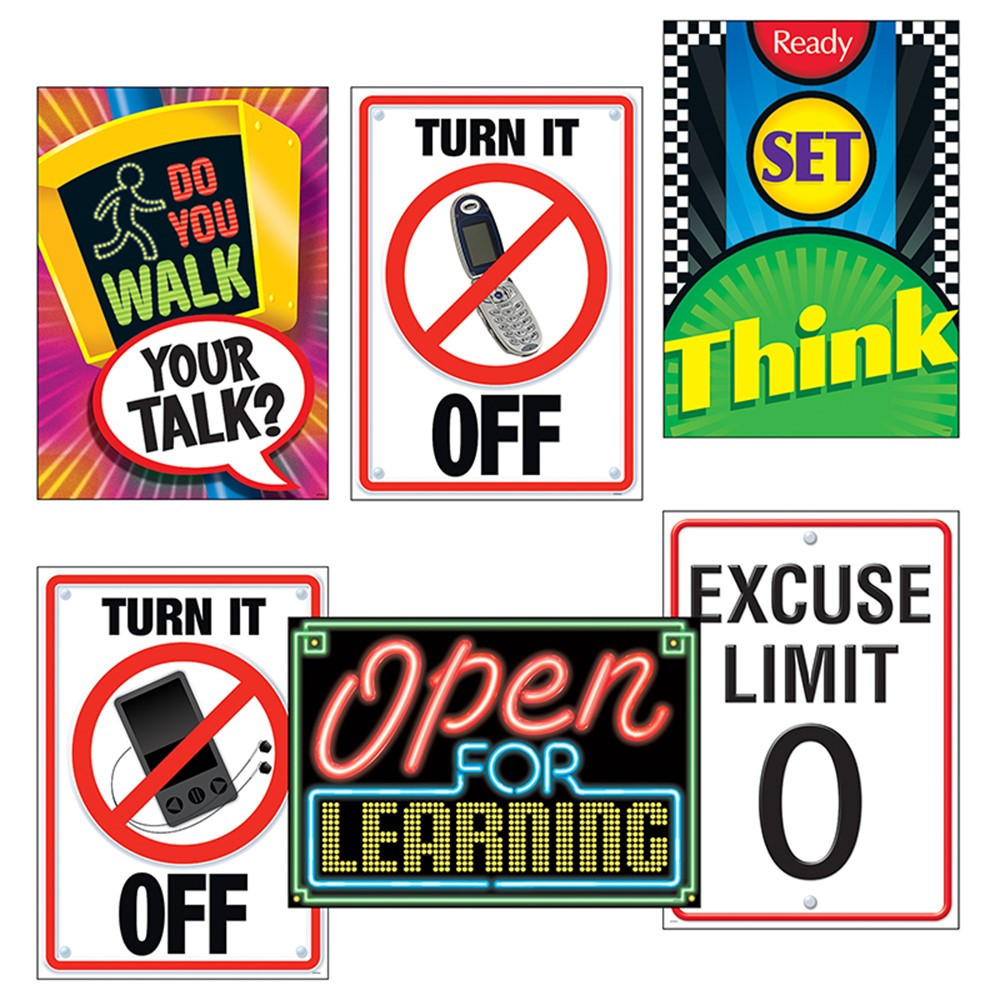 T-A67921 - Learning Signs Combo Sets Argus Posters in Motivational