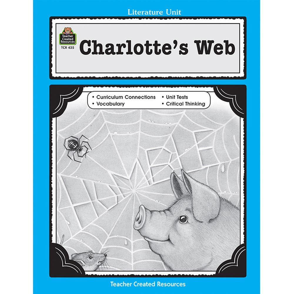 TCR0435 - Charlottes Web Literature Unit in Literature Units