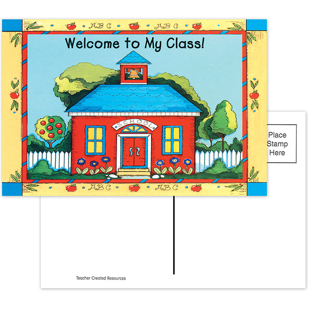 TCR1198 - Schoolhouse Welcome 30Pk Postcards 4X6 in Postcards & Pads