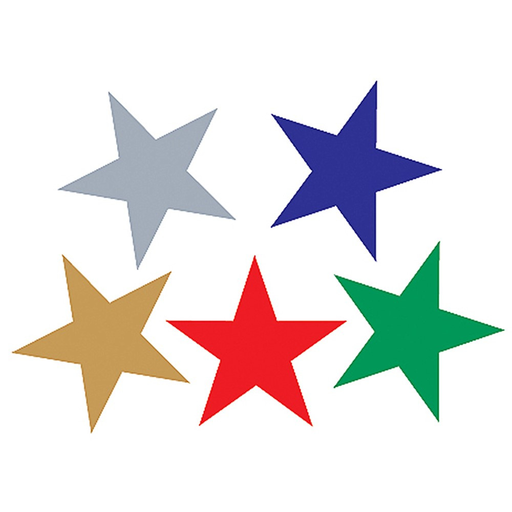 TCR1275 - Foil Stickers Assorted Stars in Stickers