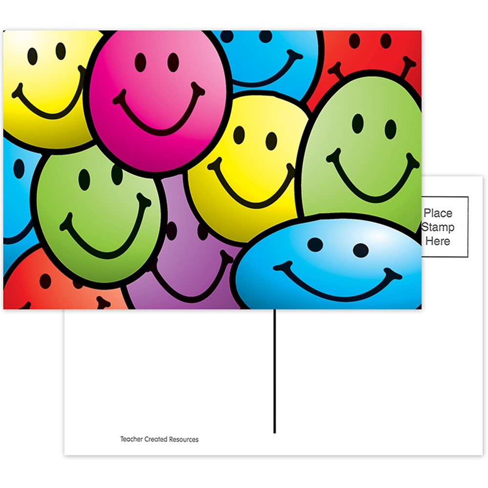 TCR1965 - Smiley Faces Postcards 30Pk in Postcards & Pads