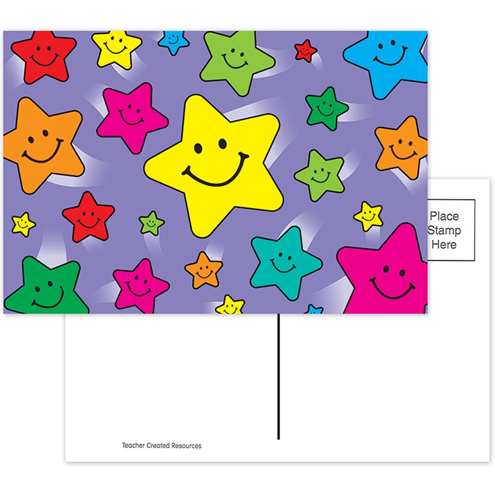 TCR1972 - Happy Stars Postcards 30Pk in Postcards & Pads