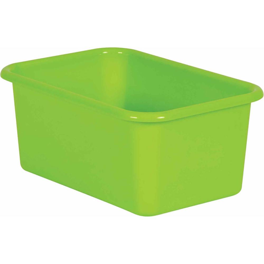 Lime Small Plastic Bin - TCR20382 | Teacher Created Resources | Storage Containers