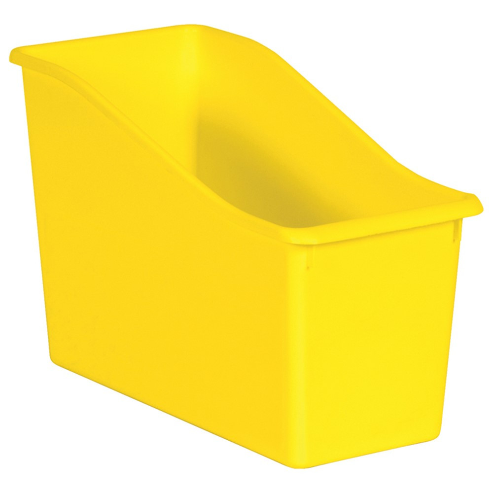 Yellow Plastic Book Bin - TCR20423 | Teacher Created Resources | Storage Containers