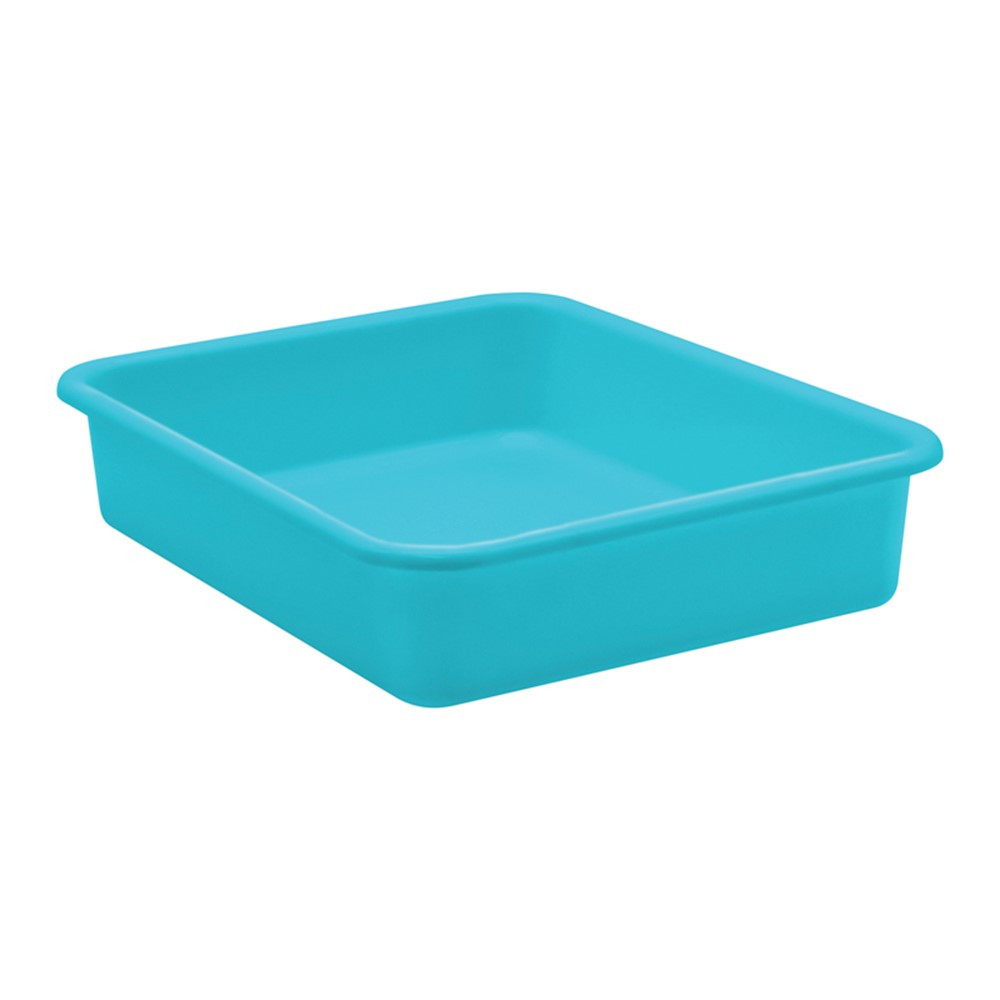 Teal Large Plastic Letter Tray - TCR20435 | Teacher Created Resources | Storage Containers