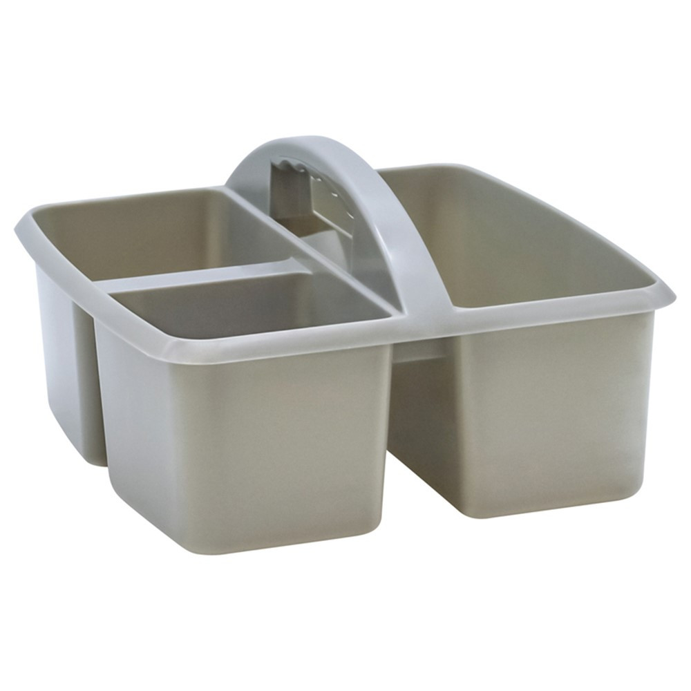 Gray Plastic Storage Caddy - TCR20441 | Teacher Created Resources | Storage Containers