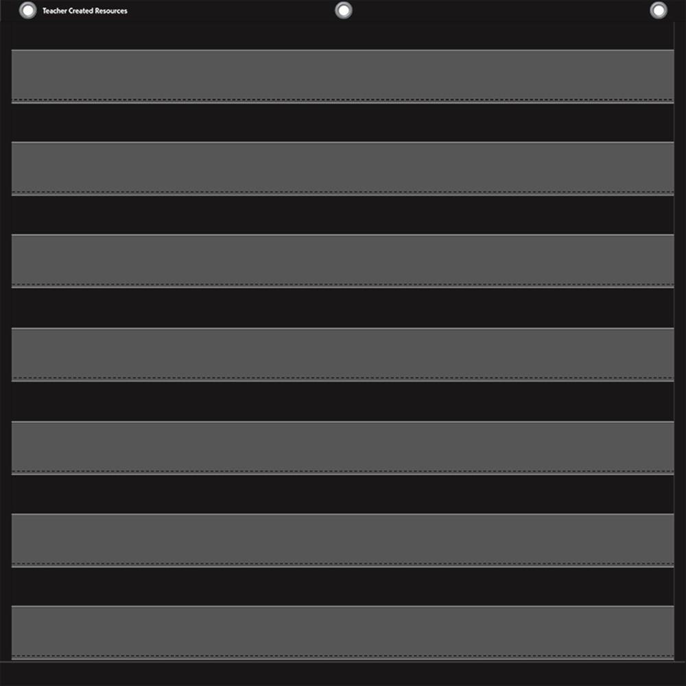 TCR20740 - Black 7 Pocket Chart in Pocket Charts
