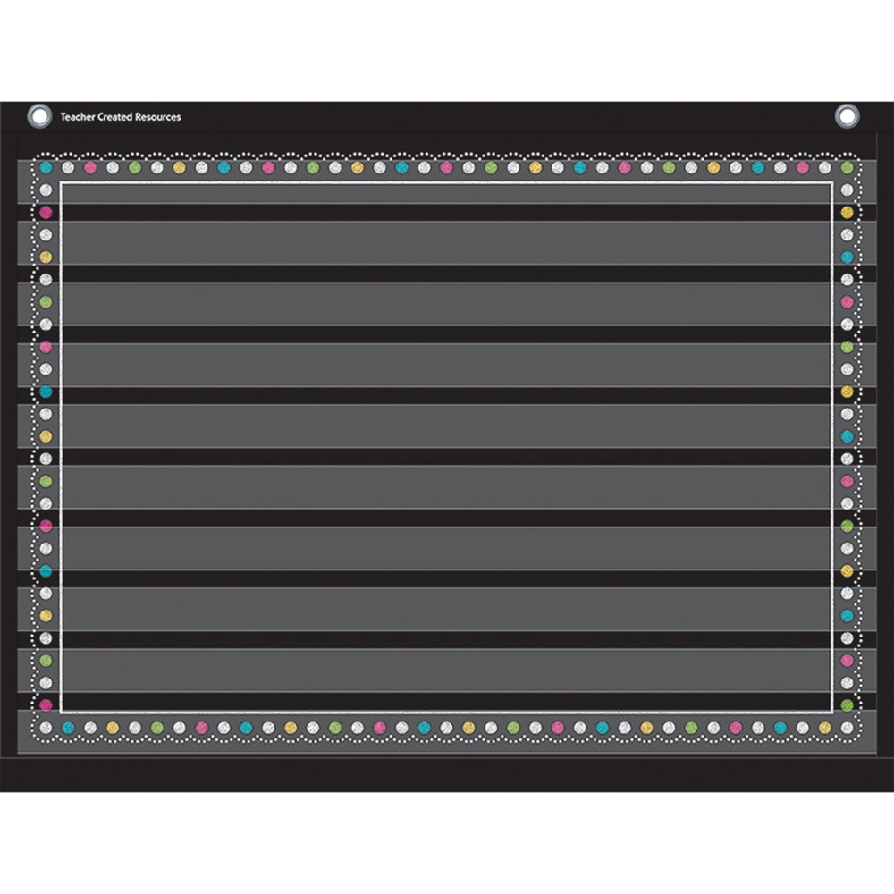 TCR20774 - Chalkboard Brights 10 Pocket 17X22 Pocket Chart in Pocket Charts