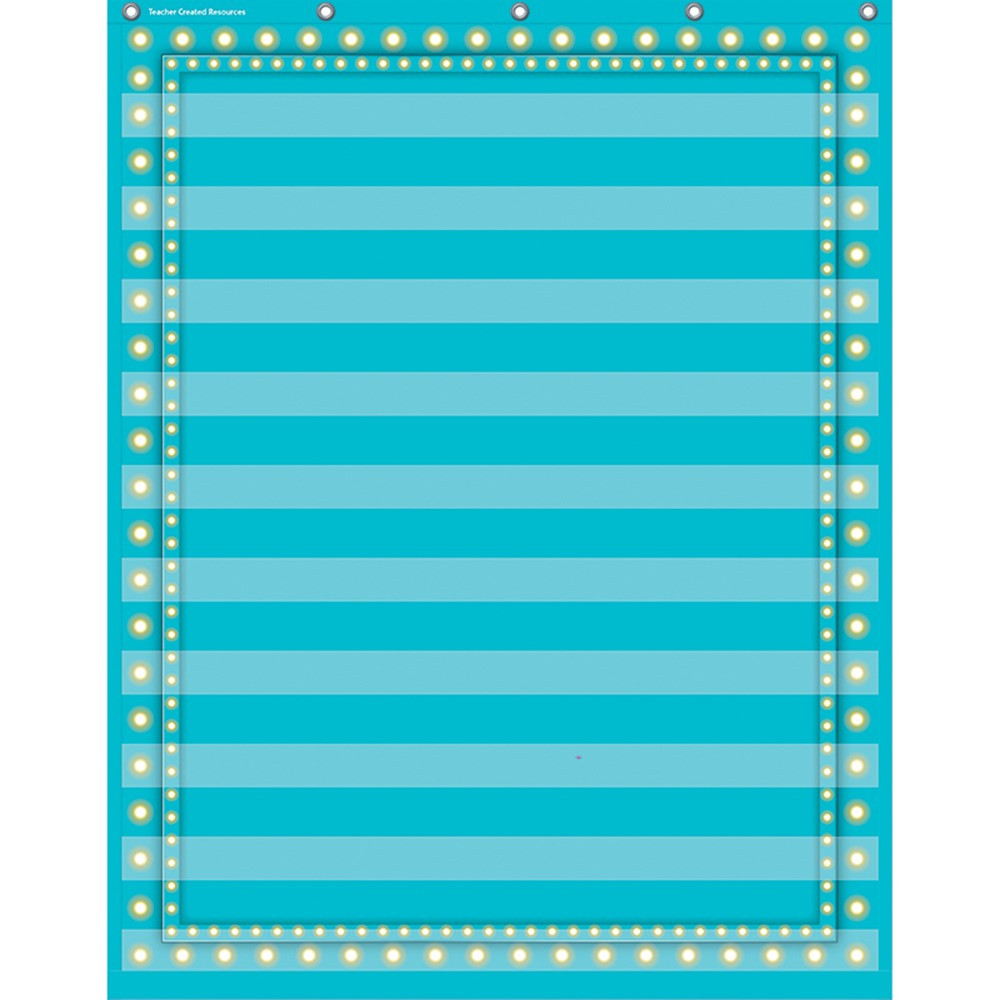 TCR20778 - Light Blue Marquee 10 Pocket 34X44 Pocket Chart in Pocket Charts