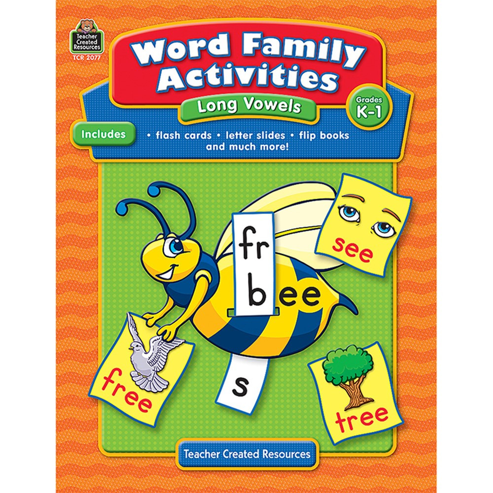 TCR2077 - Word Family Activities Long Vowels Gr K-1 in Vocabulary Skills