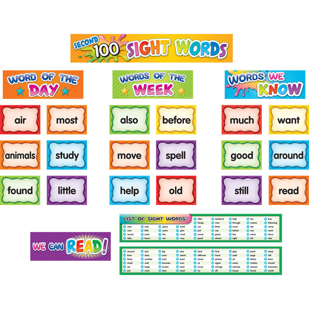 TCR20846 - 2Nd 100 Sight Word Pockt Chrt Cards in Sight Words