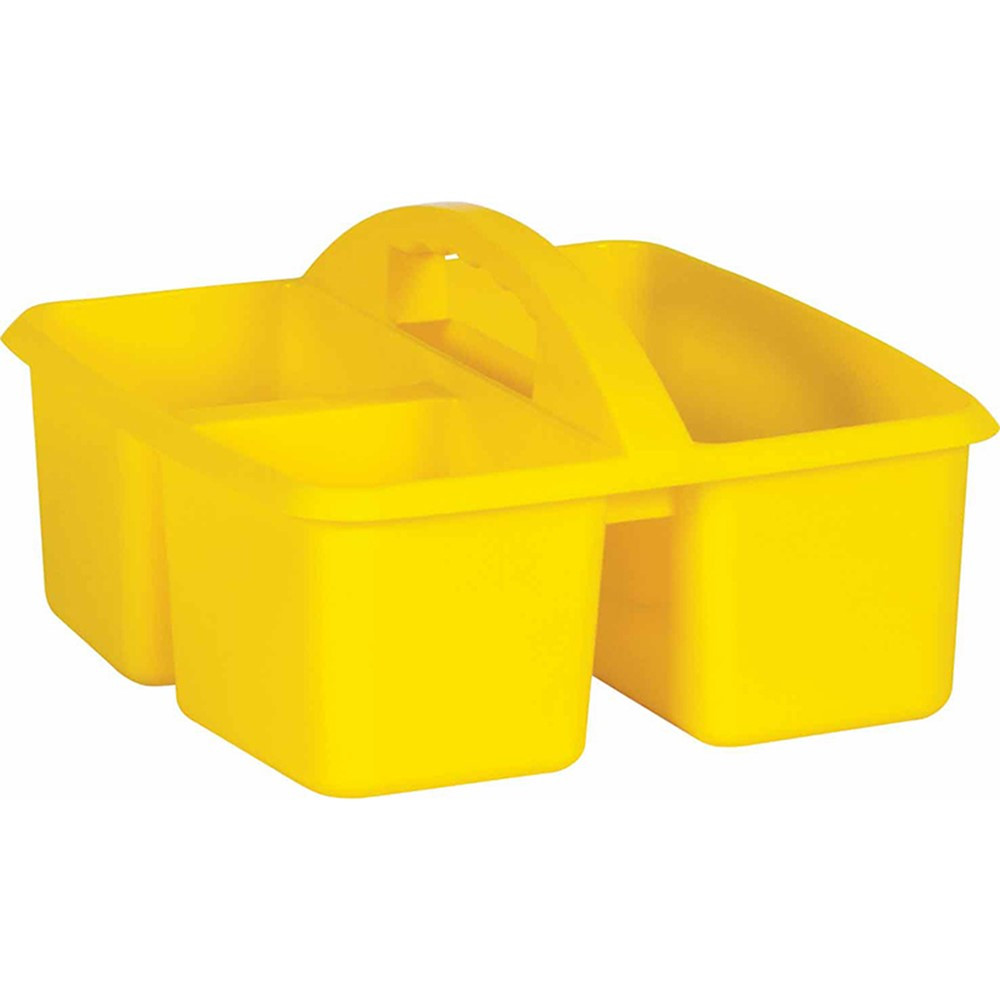 Yellow Plastic Storage Caddy - TCR20912 | Teacher Created Resources | Storage Containers