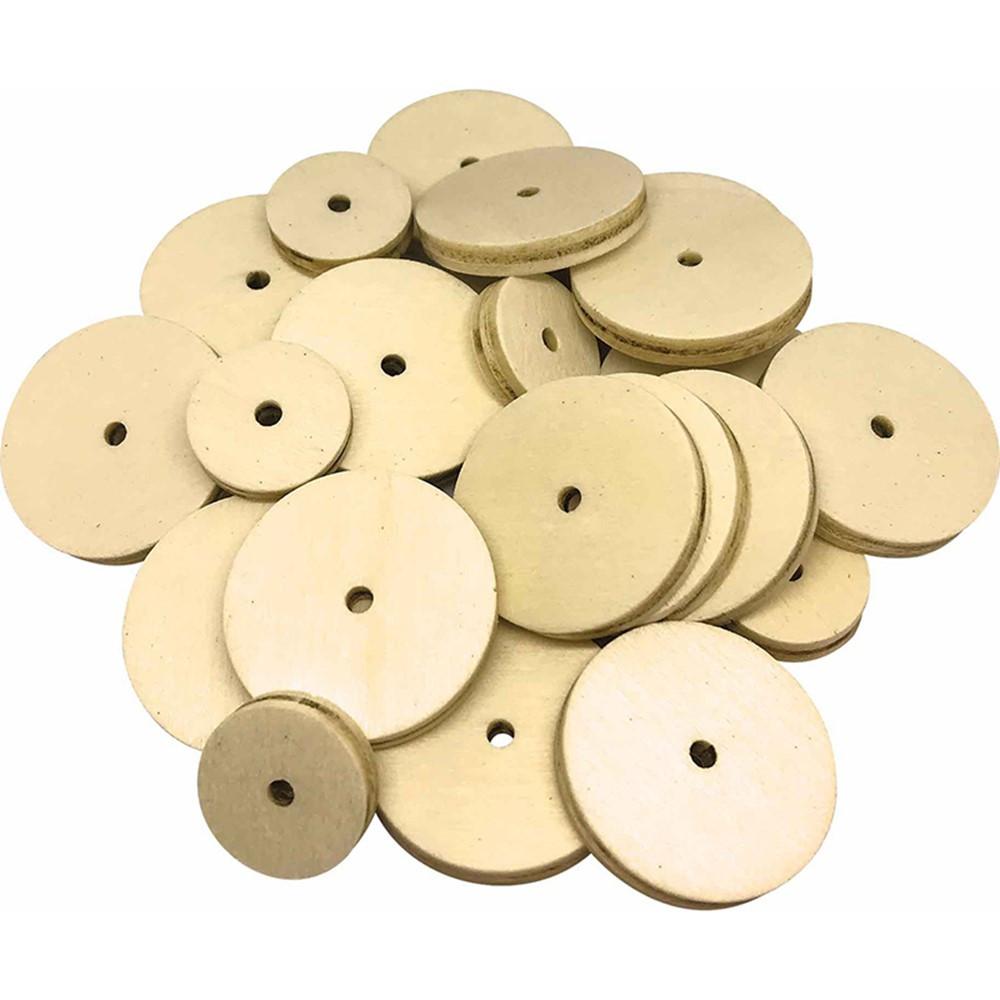 TCR20940 - Stem Basics Wooden Wheels 60 in Wooden Shapes