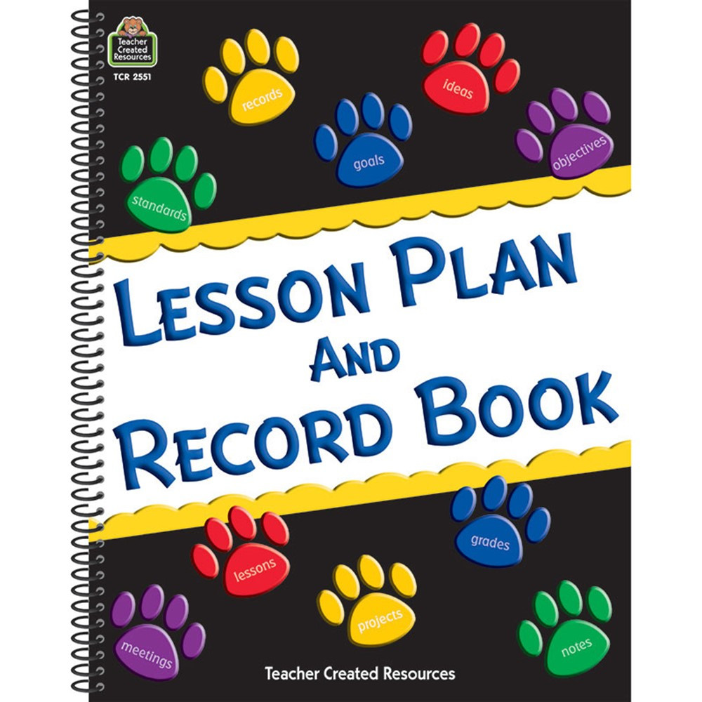 TCR2551 - Paw Prints Lesson Plan And Record Book in Plan & Record Books