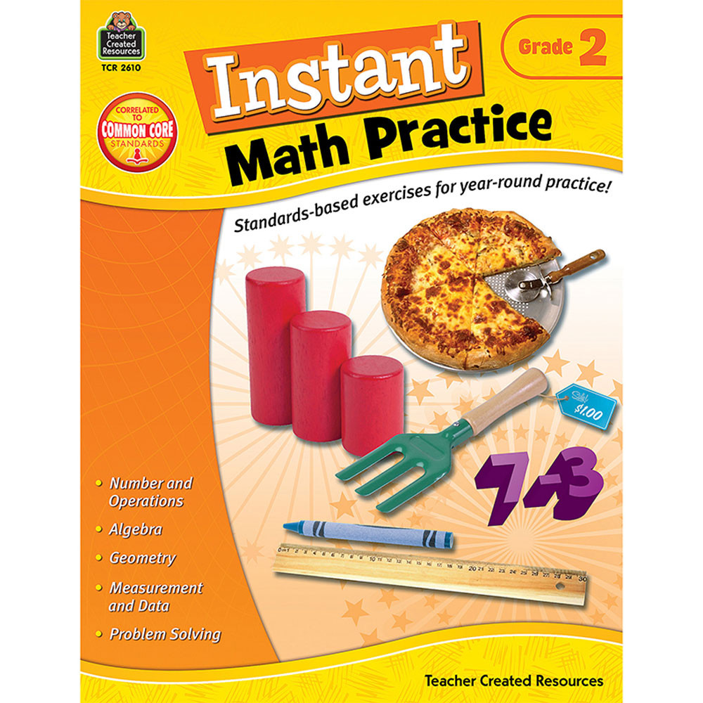 TCR2610 - Instant Math Practice Gr 2 in Activity Books