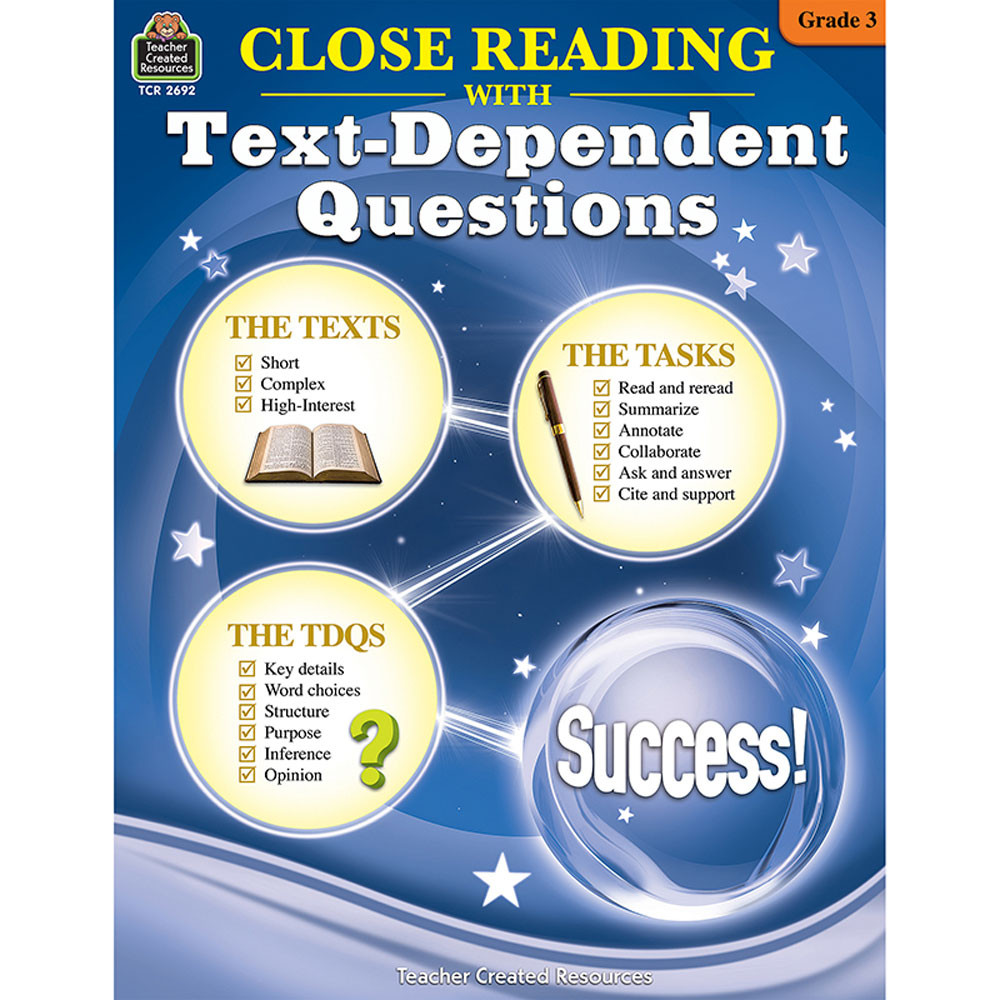 TCR2692 - Gr 3 Close Reading W/Text Questions in Comprehension