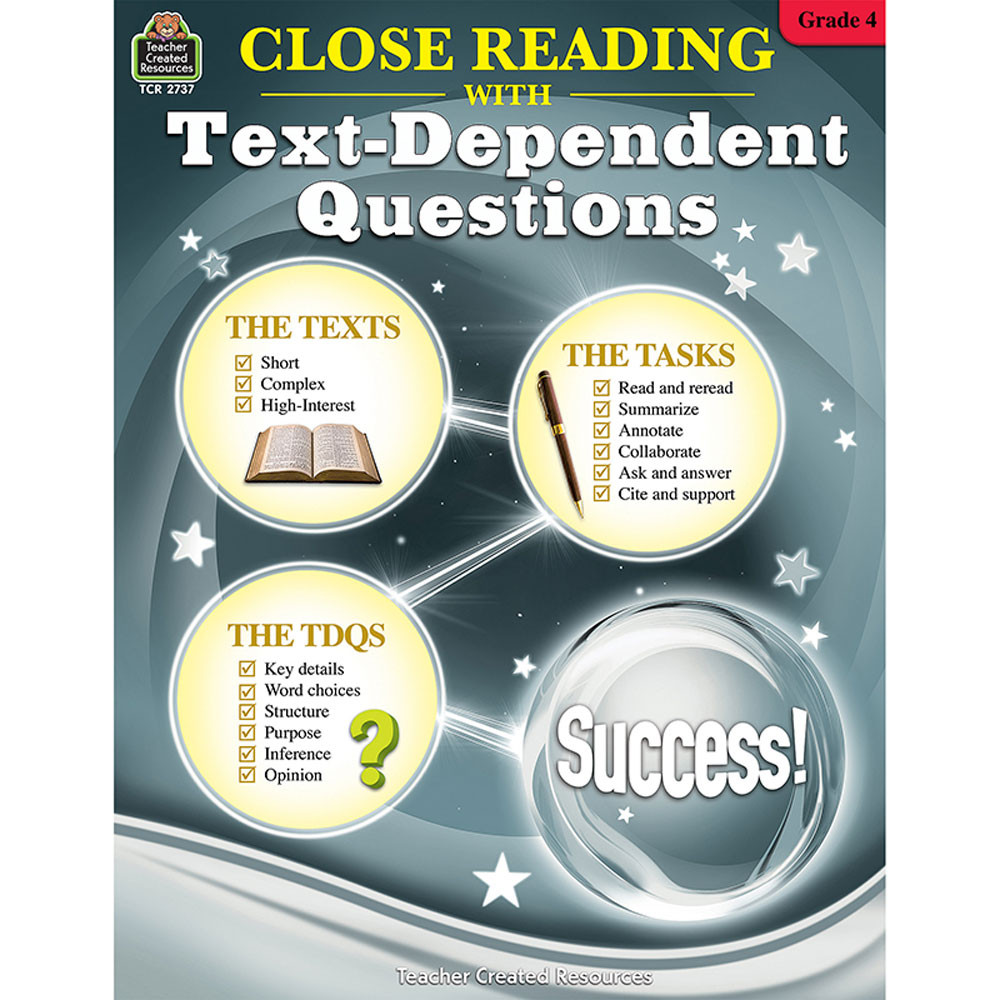 TCR2737 - Gr 4 Close Reading W/Text Questions in Comprehension