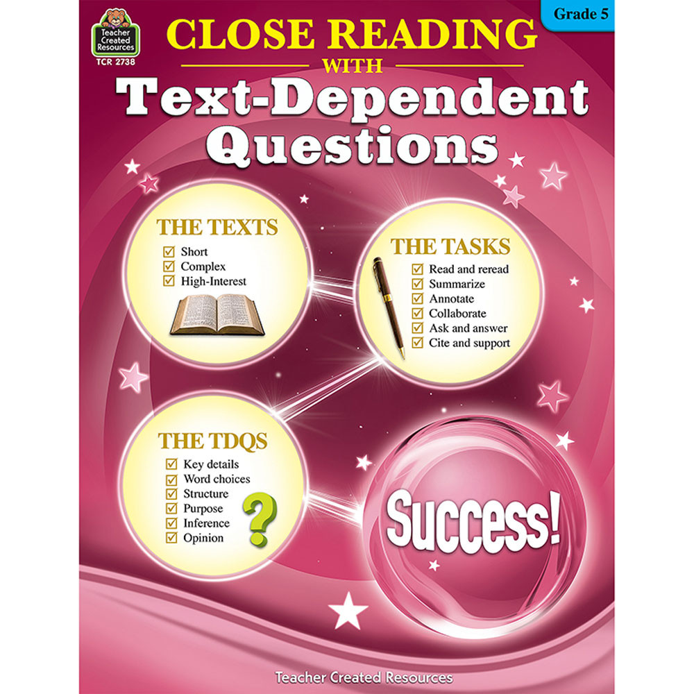 TCR2738 - Gr 5 Close Reading W/Text Questions in Comprehension