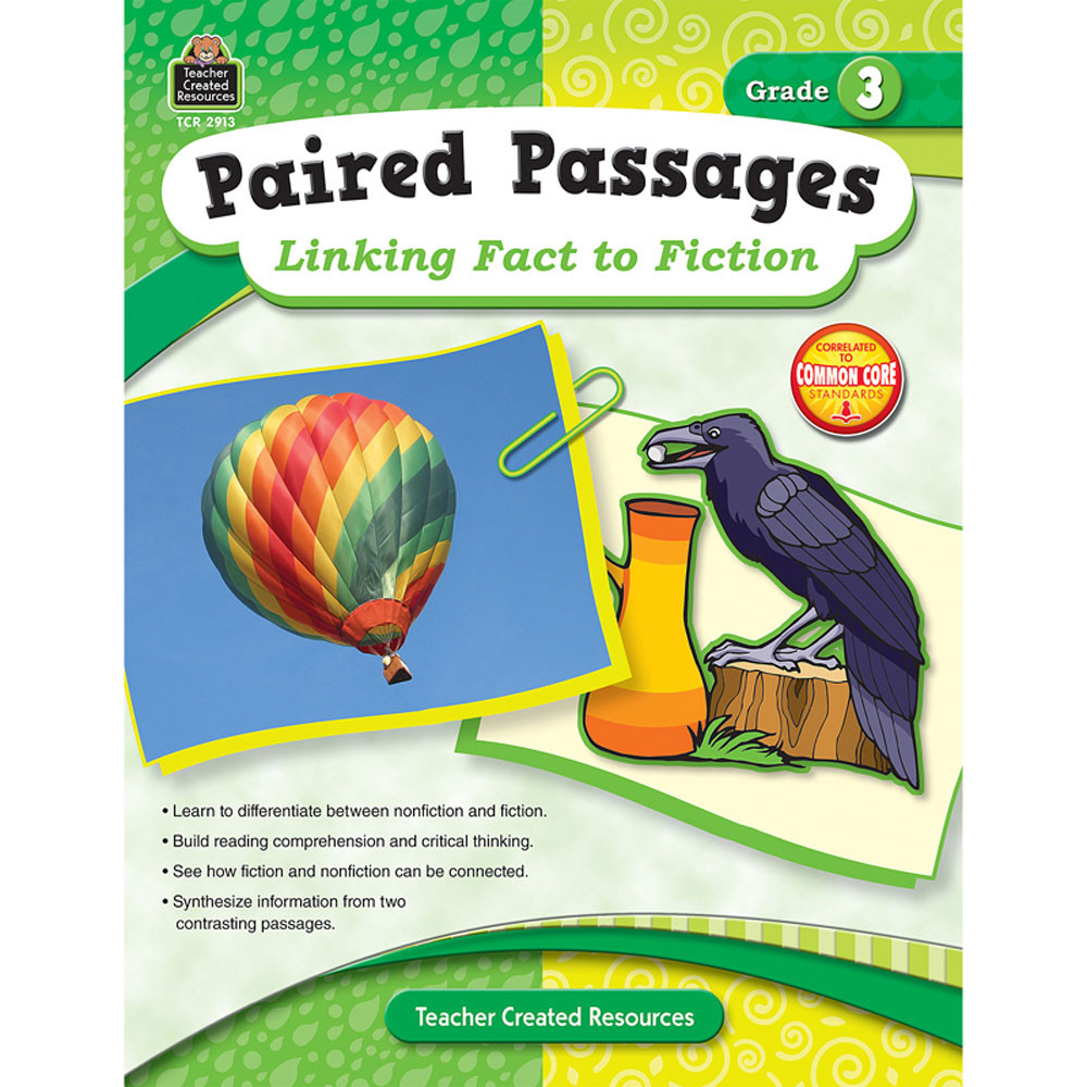 TCR2913 - Paired Passages Linking Fact To Fiction Gr 3 in Comprehension