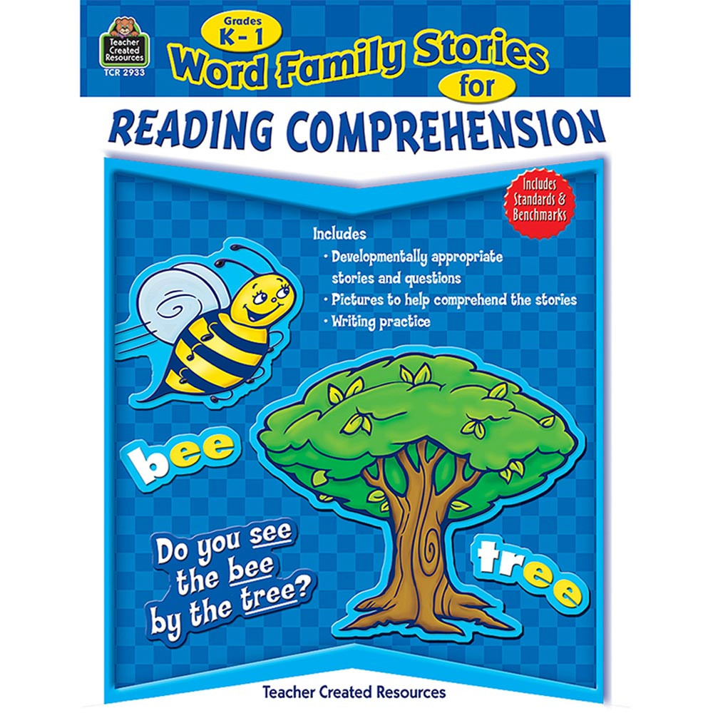 TCR2933 - Word Family Stories For Reading Comprehension Gr K-1 in Comprehension
