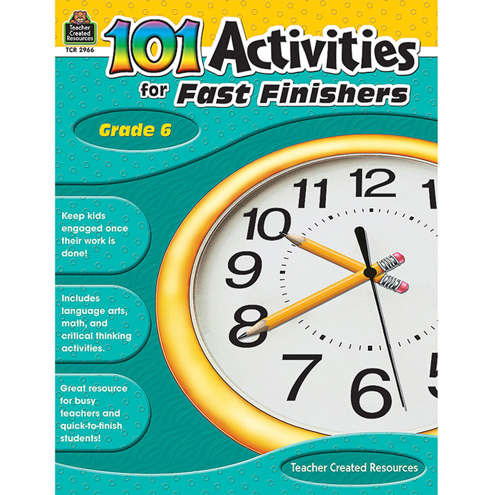 TCR2966 - Gr 6 101 Activities For Fast Finishers in Skill Builders