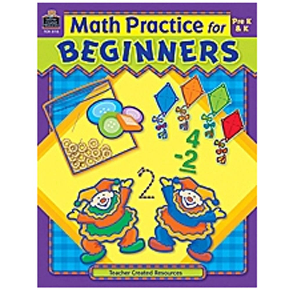 TCR3115 - Math Practice For Beginners in Activity Books