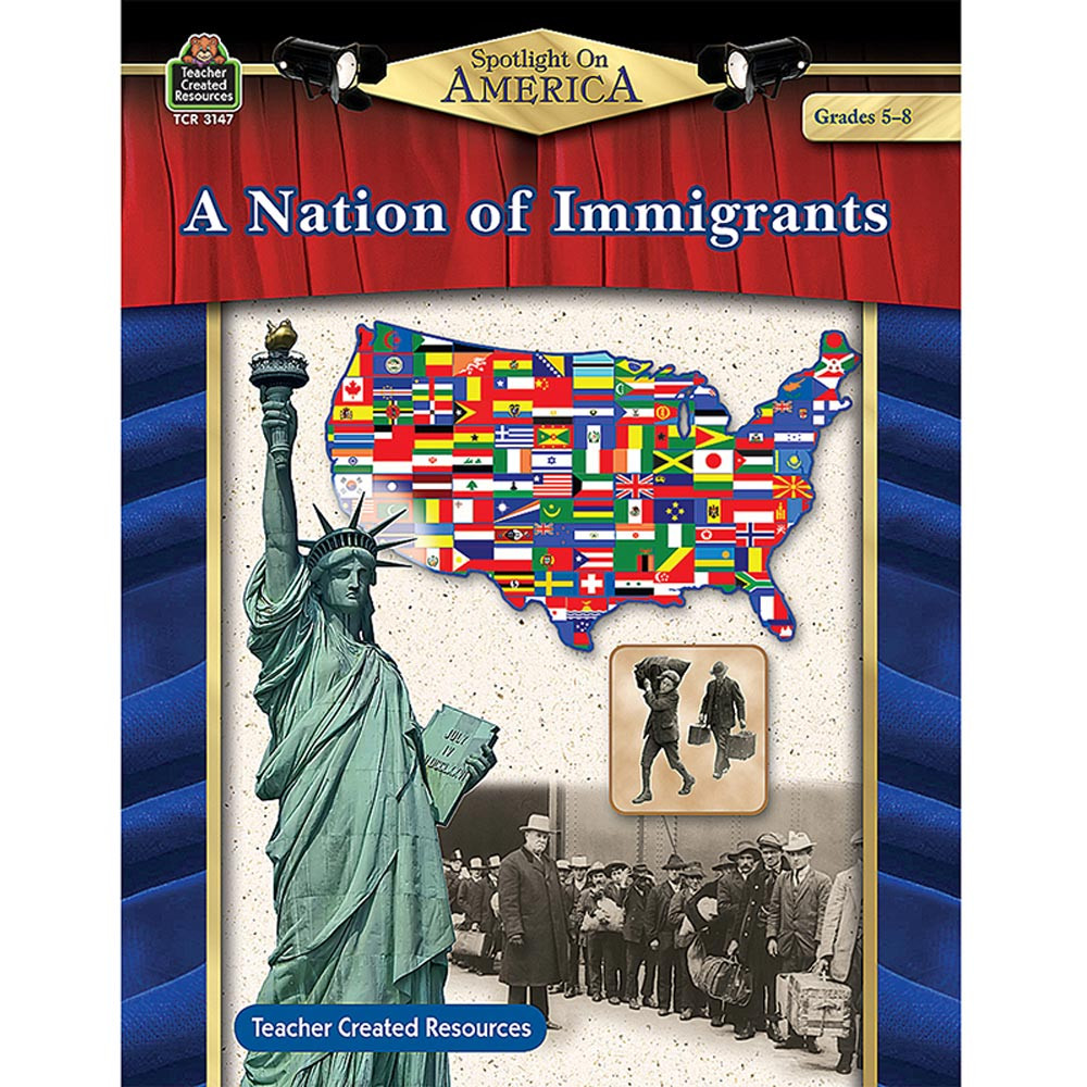 TCR3147 - Spotlight On America A Nation Of Immigrants Gr 5-8 in Cultural Awareness