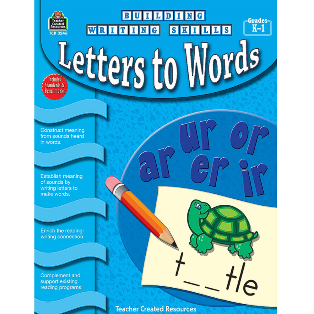 TCR3246 - Building Writing Skills Letters To Words Gr K-1 in Writing Skills