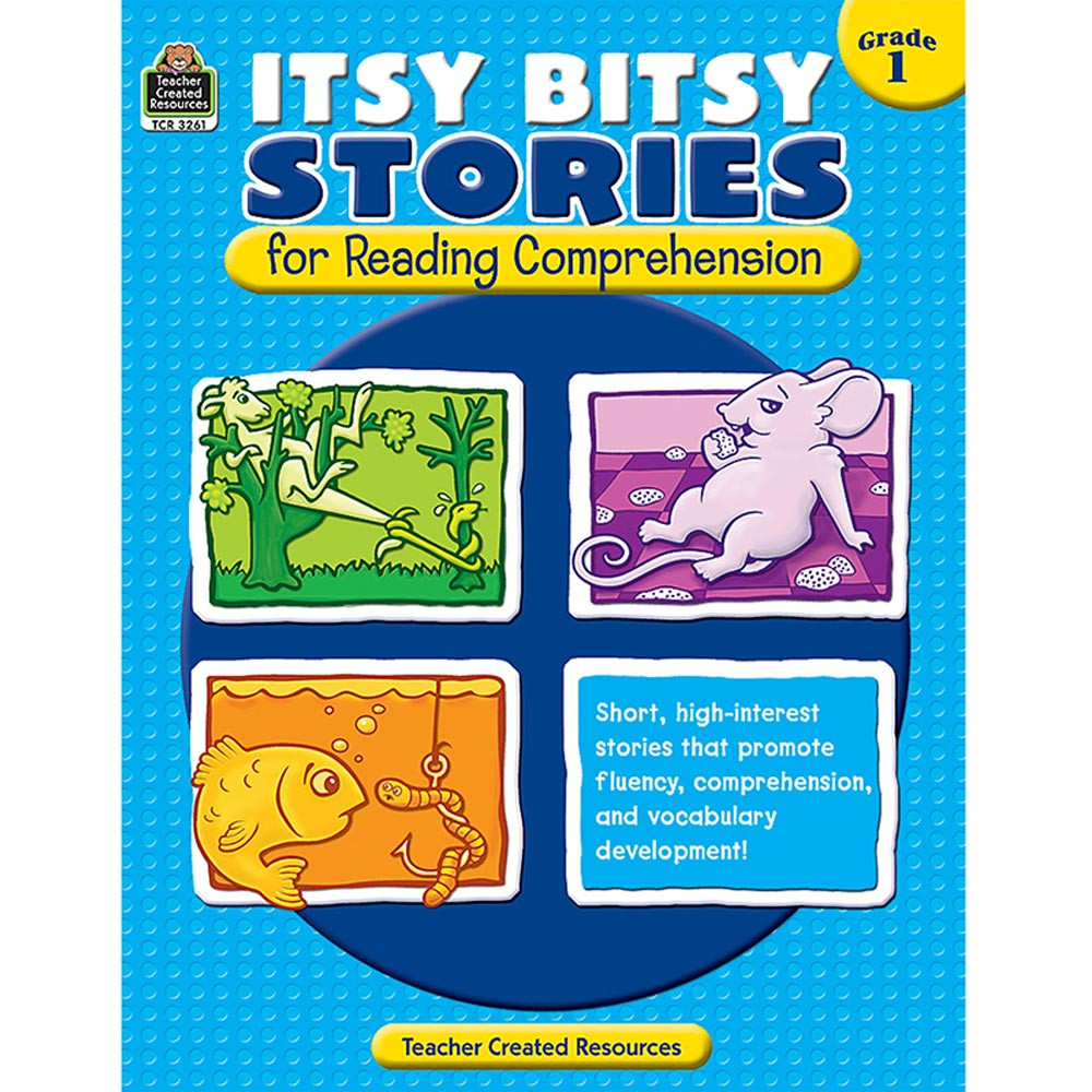 TCR3261 - Itsy Bitsy Stories For Reading Comprehension Gr 1 in Comprehension