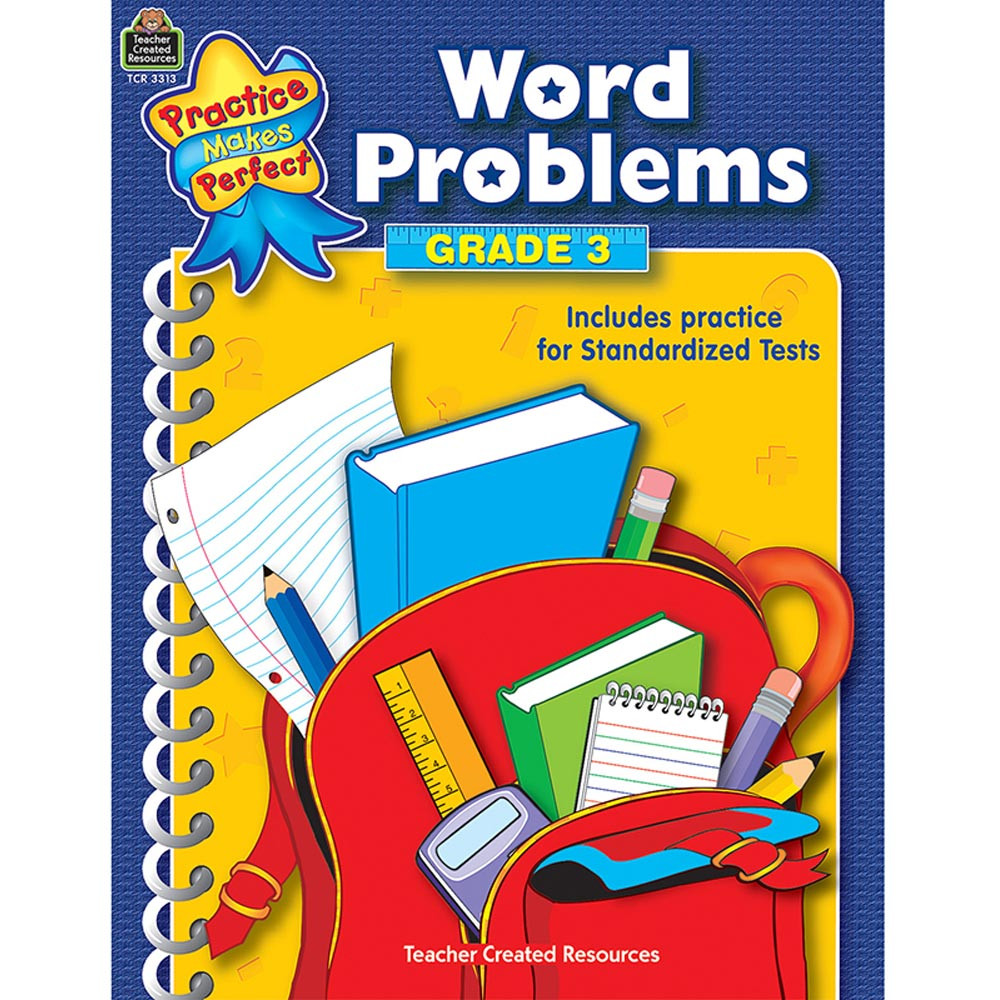 TCR3313 - Word Problems Gr 3 Practice Makes Perfect in Word Skills